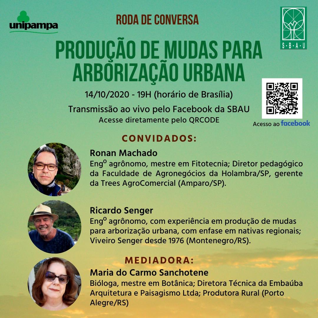 Dia 14/10/2020 – 19h (horário de Brasília) a SBAU convida para a Roda de Conversa