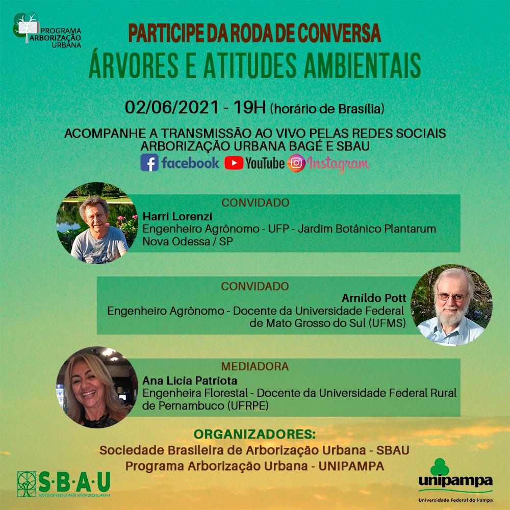 RODA DE CONVERSA – ÁRVORES E ATITUDES AMBIENTAIS 02-06-2021