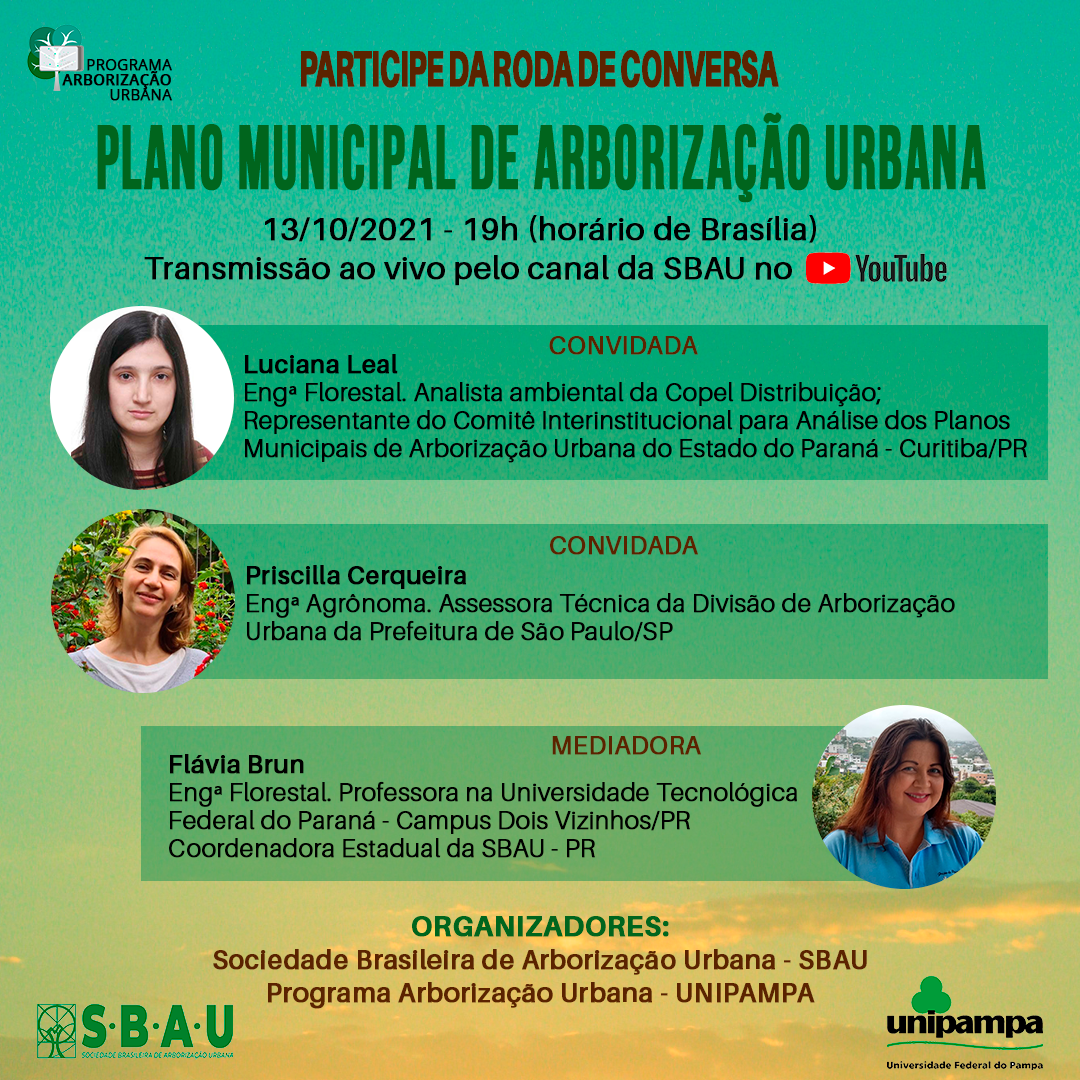 RODA DE CONVERSA – PLANO MUNICIPAL DE ARBORIZAÇÃO URBANA – 13/10/2121